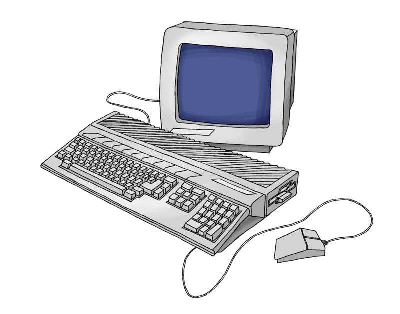 Atari 1040 STF Illustration von Martin Karcher