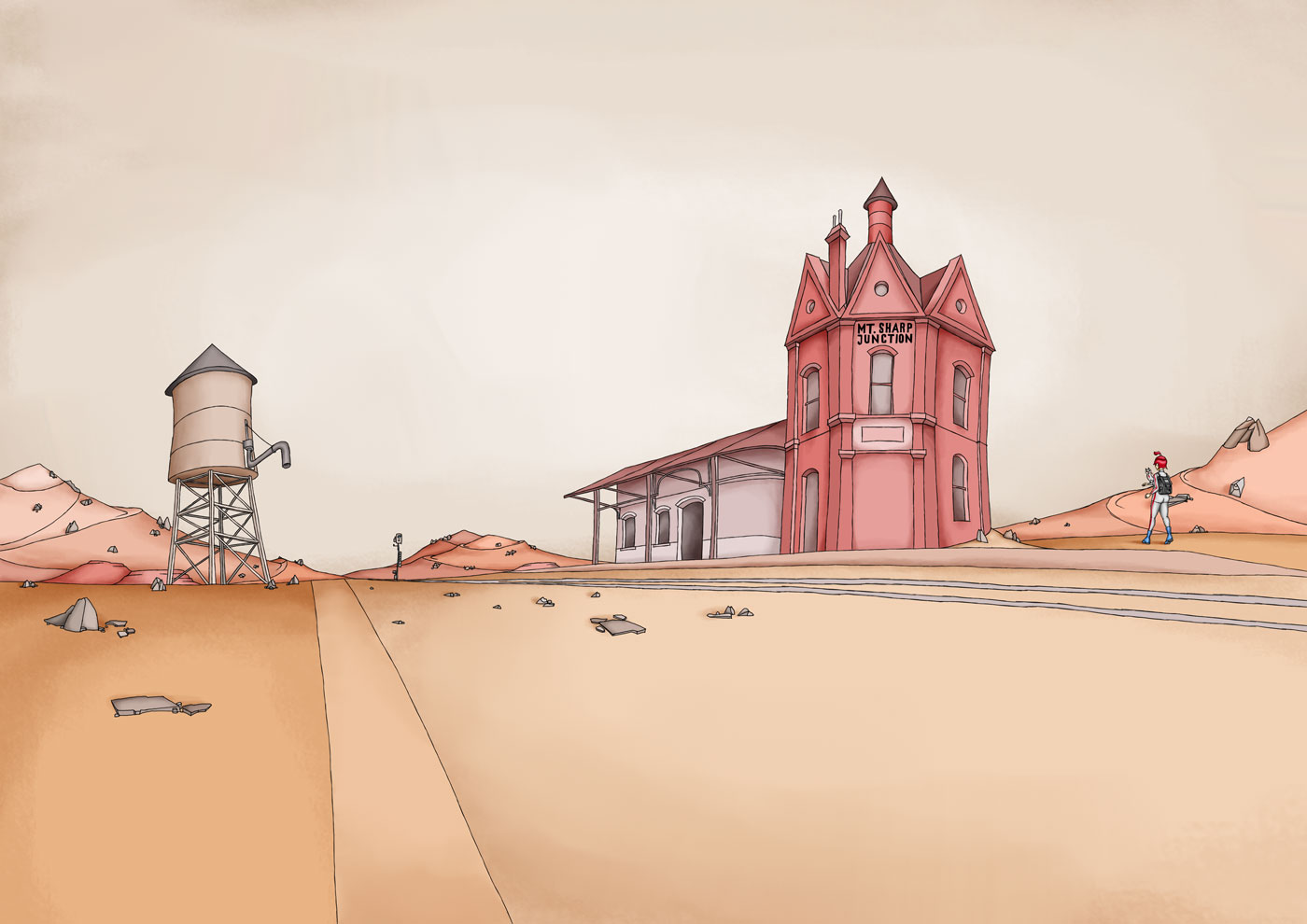 Little Jane Mount Sharp Junction Station Illustration