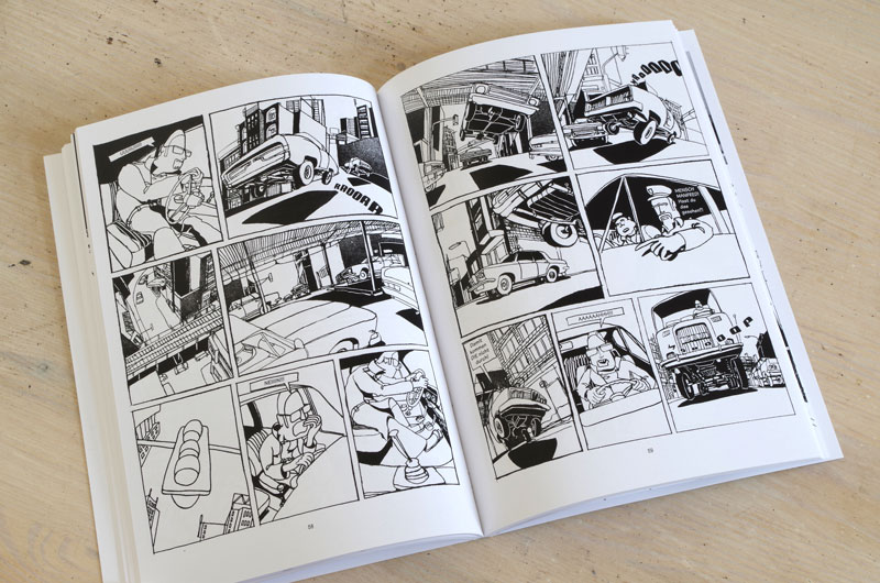 "Graphic-Novel ""Schefeld City Blues"" von Martin Karcher Innenseite 08"